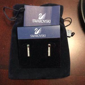 NWT Swarovski silver earrings